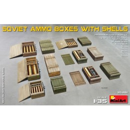 MA-35261 miniart 35261 1/35 Soviet Ammo Boxes w/Shells