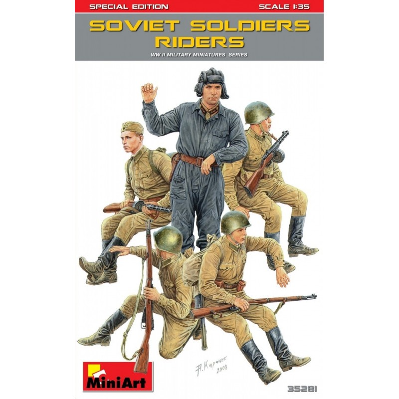 MA-35281 MiniArt 35281 1/35 Soviet Soldiers Riders. Special Edition