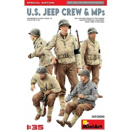 MA-35308 MiniArt 35308 1/35 U.S. Jeep Crew  MPs. Special Edition