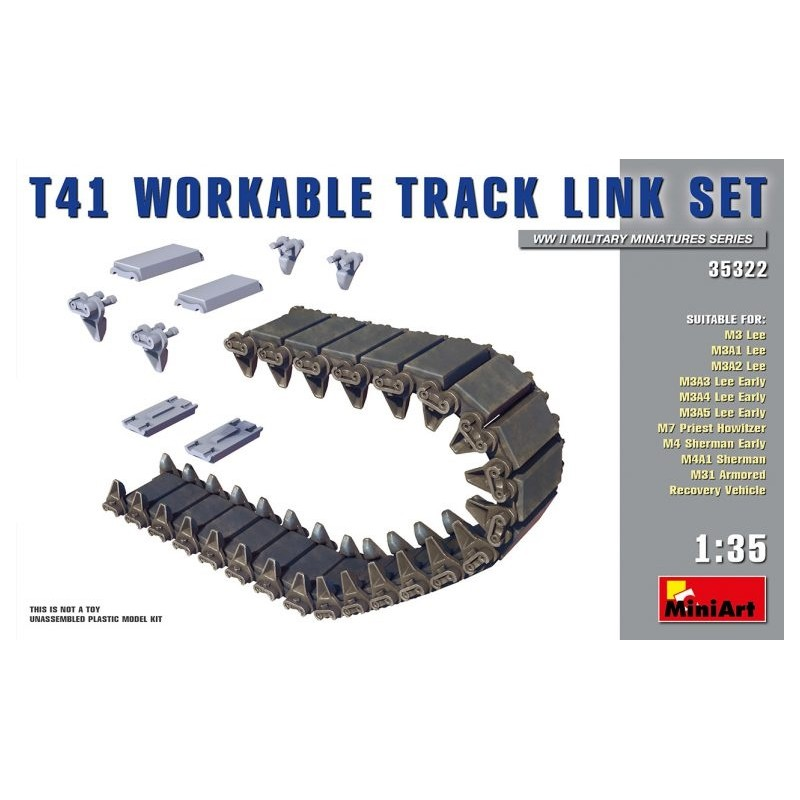 MA-35322 MINIART 35322 1/35.T41 Workable Track Link Set