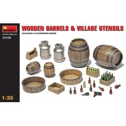 MA-35550 miniart 35550 1/35 Wooden Barrels  Village Utensils