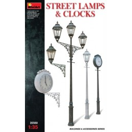 MA-35560 MiniArt 35560 1/35 Street Lamps  Clocks