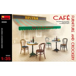 MA-35569 MINIART  1/35 35569 Café Furniture  Crockery