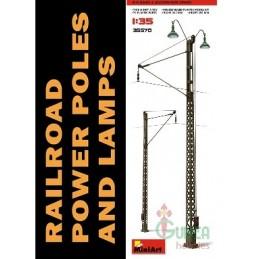 MA-35570 MINIART  1/35 Railroad Power Poles  Lamps