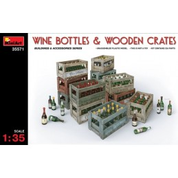 MA-35571 MINIART 35571 1/35 WINE BOTTLES  WOODEN CRATES