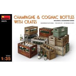 MA-35575 MINIART 35575  1/35 Champagne  Cognac Bottles w/Crates