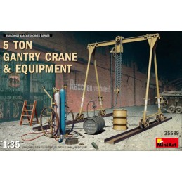 MA-35589 MINIART 35589 1/35 5 Ton Gantry Crane  Equipment