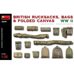 MA-35599 MINIART 35599  1/35  British Rucksacks, Bags  Folded Canvas WW2