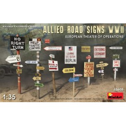 MA-35608 MINIART 35608 1/35.Allied Road Signs WWII. European Theatre of Operations