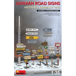 MA-35609 MiniArt 35609 1/35 German Road Signs WWII (Ardennes, Germany 1945)