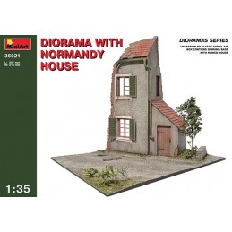 MA-36021 1/35 Diorama w/Normandy House