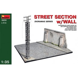 MA-36052 1/35 Street section w/Wall 12/12