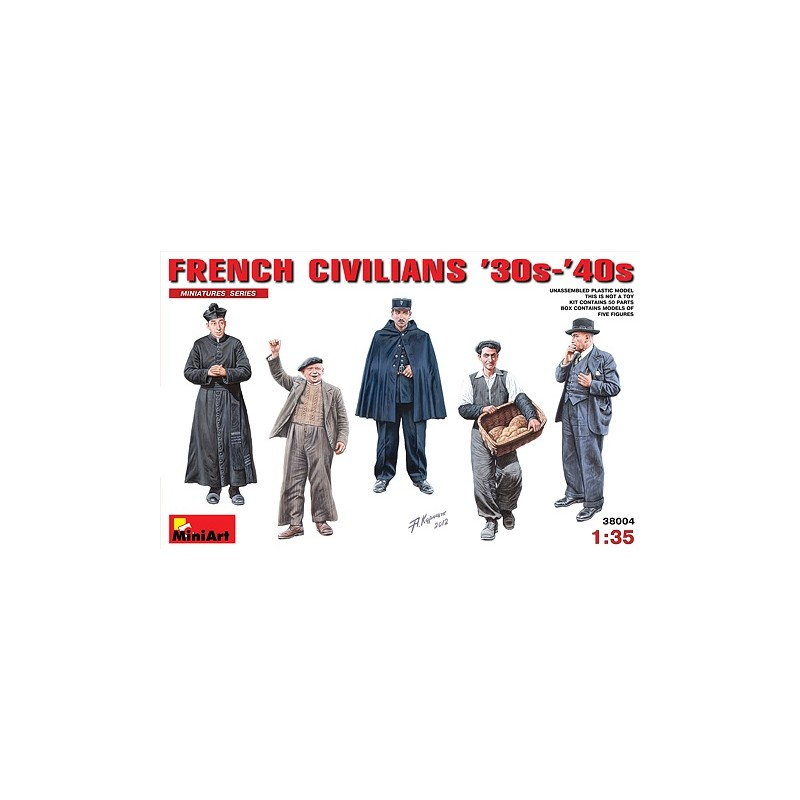 MA-38004 1/35 French Civilians 30-40th