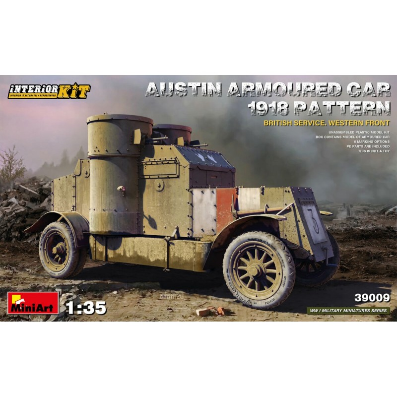 MA-39009 MiniArt 39009 1/35 Austin Armoured Car 1918 Pattern. British Service. Western Front. Interior Kit
