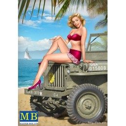 MB-24006 1/24  Master Box  Pin-up series, Kit No. 6. Samantha