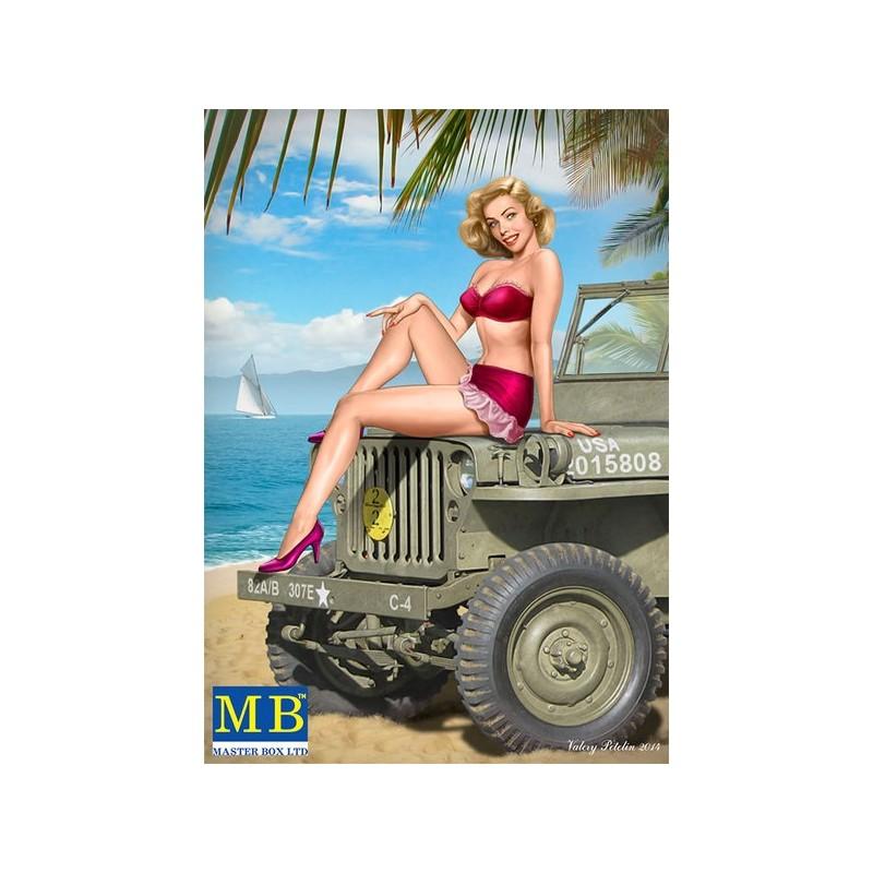 MB-24006 1/24  Master Box  Pin-up series, Kit No. 6.Samantha