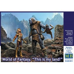 MB-24011  MASTER BOX 24011 1/24 World of Fantasy. This is my land .