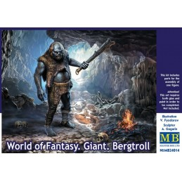 MB-24014  MASTER BOX 24014 1/24 World of Fantasy. Giant . Bergtroll.