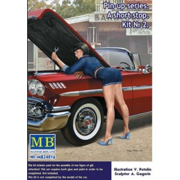 MB-24016 MASTER BOX 24016 1/24 Pin-up series. A short stop. Kit No. 2