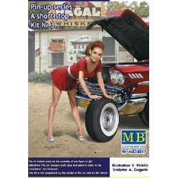 MB-24017 MASTER BOX 24017 1/24 Pin-up series. A short stop. Kit No. 3