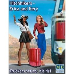 MB-24041 Master Box 24041 1/24 Truckers Series. Kit No. 1 Hitchhikers - Erica  Kery