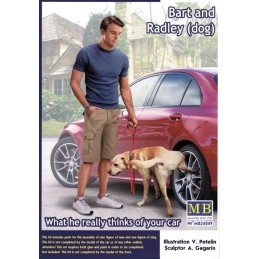 MB-24049 Master Box 24049 1/24 What he really thinks of your car. Bart and Radley (dog)