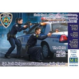 MB-24064 Master Box 24064 1/24 Officer needs assistance, Sgt Jack Melgoza and Patrolman Sally Taylor