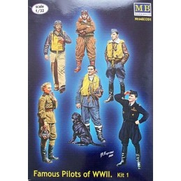 MB-3201 1/32 Series Famous pilots of WW II, kit 1