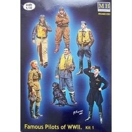 MB-3201 1/32 Series Famous pilots of WW II, kit 1