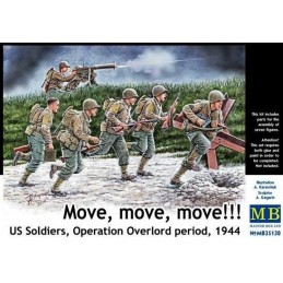 MB-35130 1/35 Move US Soldiers, Operation Overlord 1944