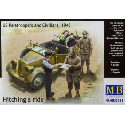 MB-35161B MASTER BOX 35161B 1/35 Hitch on the road. US Paratroopers and Civilians