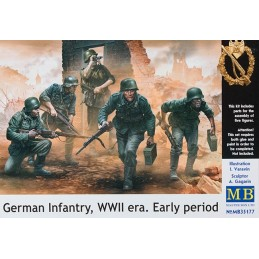 MB-35177 Master Box 35177 German Infantry, WWII era. Early period
