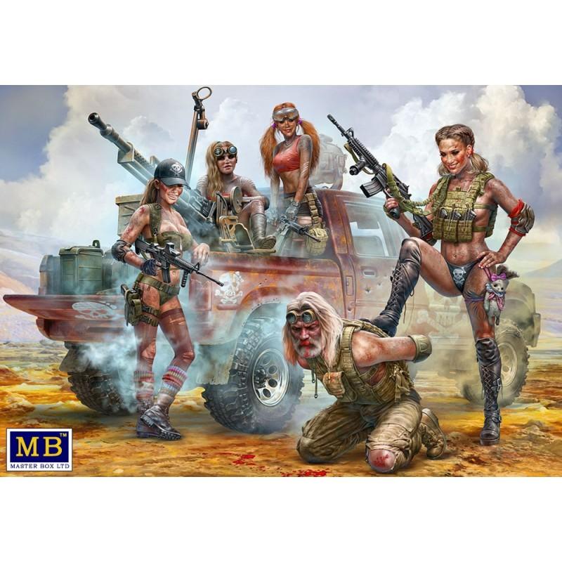 MB-35199 MASTER BOX 35199 1/35 DesertBattleSeries.SkullClan -NewAmazons