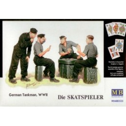MB-3525 master box 3525 1/35 Skatspieler. German Panzer crew set.