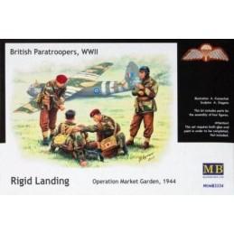 MB-3534 1/35 Brit. Paratroopers (2)  Rigid Landing