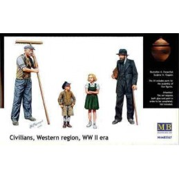 MB-3567 1/35 Civillians, Western region WW II