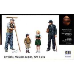 MB-3567 1/35 Civillians, Western region WW II