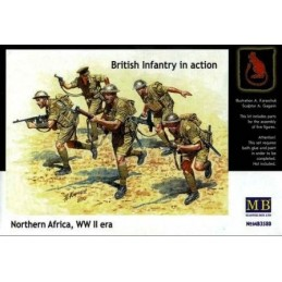 MB-3580 1/35 Brit. Infantry in action 2 North Africa WW II