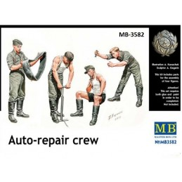 "MB-3582 master box 3582 1/35 ""Auto Repair Crew"". German  Infantry"