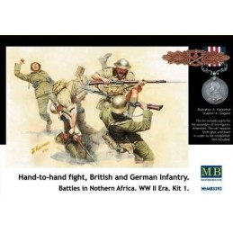 MB-3592 1/35 Hand-to-hand fight Nothern Africa WW II era