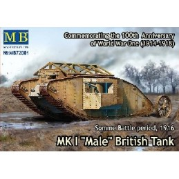 MB-72001 1/72 MK I Male British Tank, Somme Battle 1916