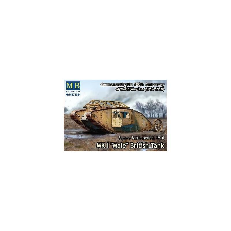 MB-72001 1/72 MK I Male British Tank, Somme Battle 1916