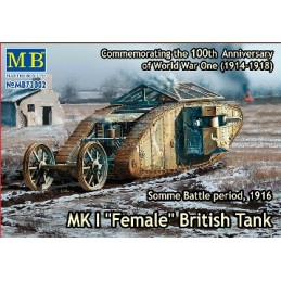 MB-72002 1/72 MK I Female British Tank, Somme Battle 1916