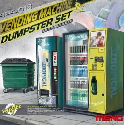 MENG-SPS018 1/35 Vending Machine  Dumpster Set