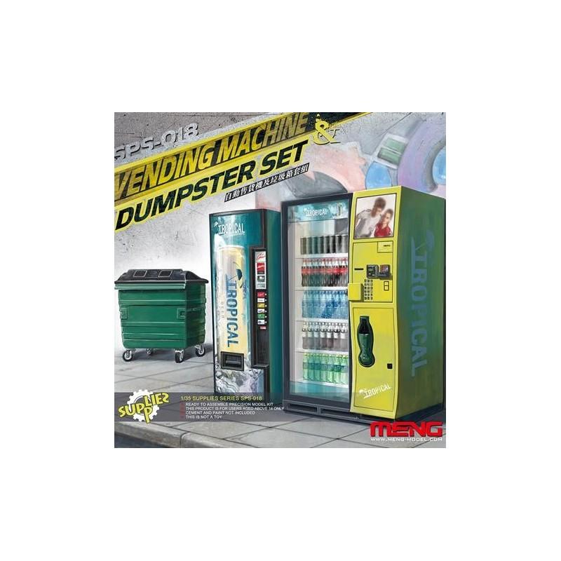 MENG-SPS018 1/35 Vending Machine  Dumpster Set