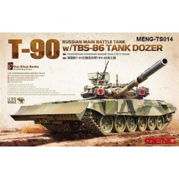 MENG-TS014 1/35 Russian Main Battle Tank T-90 w/TBS-86 Tank Dozer