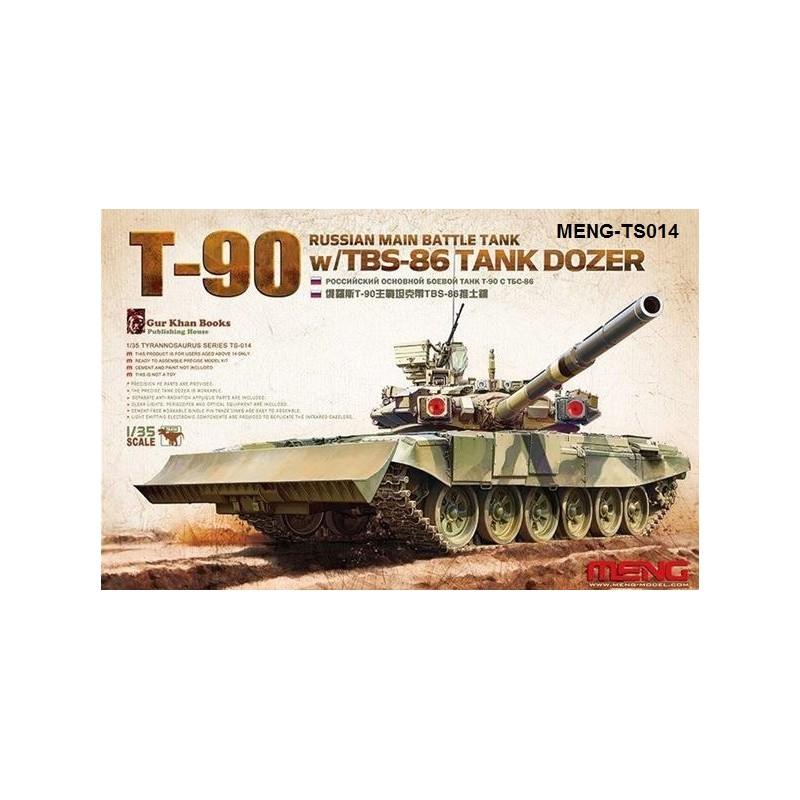 MENG-TS014 1/35 Russian Main Battle Tank T-90 w/TBS-86 Tank Dozer