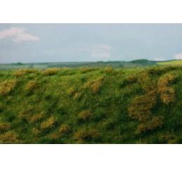 MS-F522 Model Scene F522 grass mats premium 18x28cm.Fallow field, Early summer
