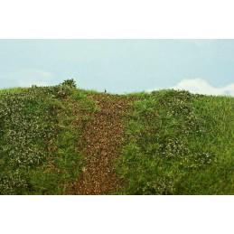MS-F542 Model Scene F542 grass mats premium 18x28cm.Embankment - early summer