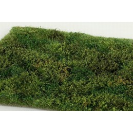 MS-F572 Model Scene F572 grass mats premium 18x28cm.Wild area with bushes - early summer